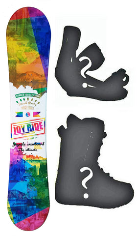 140cm Joyride Beach Party White Flat Rocker Womens Blem Snowboard, Build a Package with Boots and Bindings.