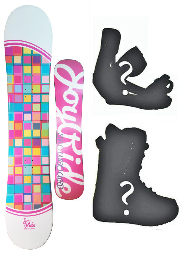 135 Joyride Blocks Rocker Girls Snowboard, Build a Package with Boots and Bindings.