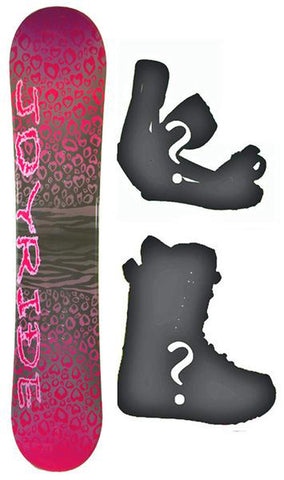 140cm Joyride Cheeta Rocker Womens Snowboard, Build a Package with Boots and Bindings.