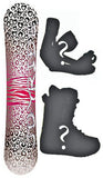 140cm Joyride Cheetah White, Camber Womens Snowboard, Build a Package with Boots and Bindings.