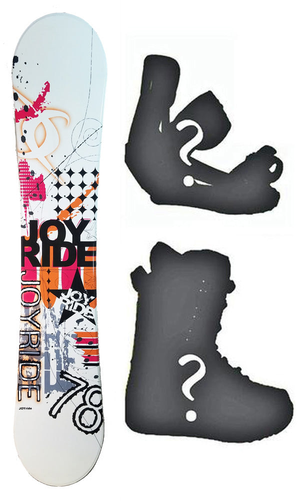 140cm Joyride Emblem Rocker Womens Blem Snowboard, Build a Package with Boots and Bindings.