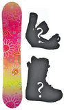 140cm Joyride Garden Pink Rocker Womens Snowboard, Build a Package with Boots and Bindings.