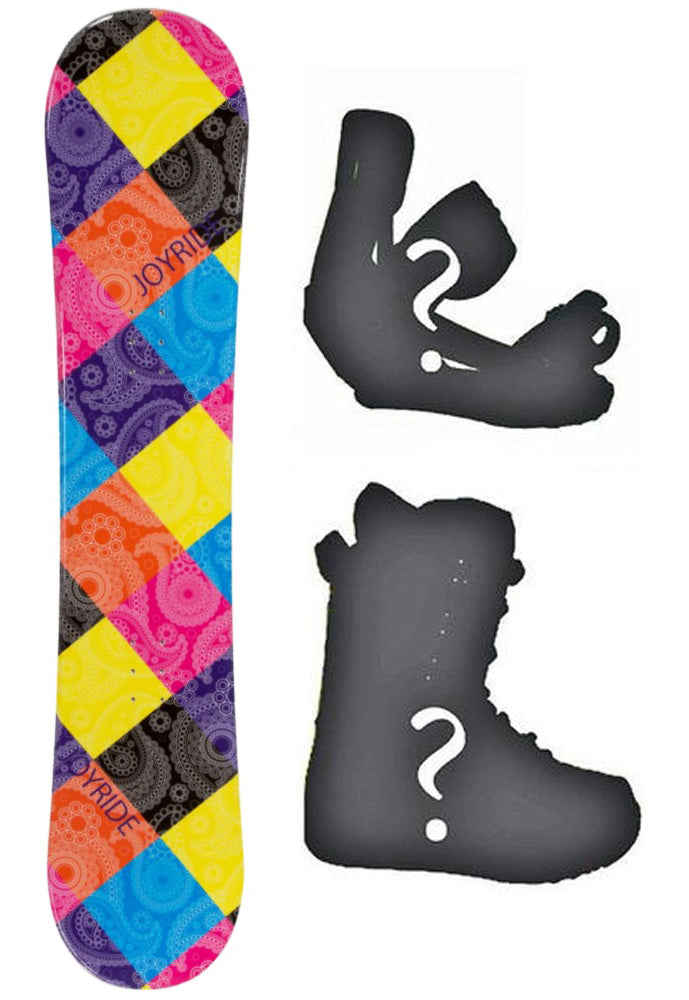 140cm Joyride Paisley, Camber Women Snowboard Build a Package with Boots and Bindings.