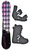 140cm Kemper Dream, Rocker Womens Snowboard, Build a Package with Boots and Bindings.