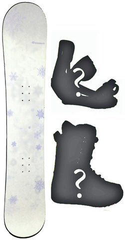 140cm  Kissmark Angelkiss Camber Snowboard, or Build a Package with Boots and Bindings