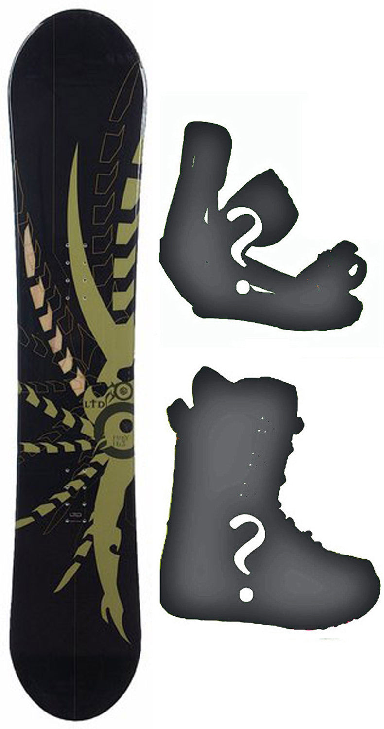 150cm  LTD Fury Camber Snowboard, Build a Package with Boots and Bindings