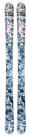 161cm Line Invader Black White Twin Tip Blem Skis  11cm / 8.3cm / 11cm Last pair