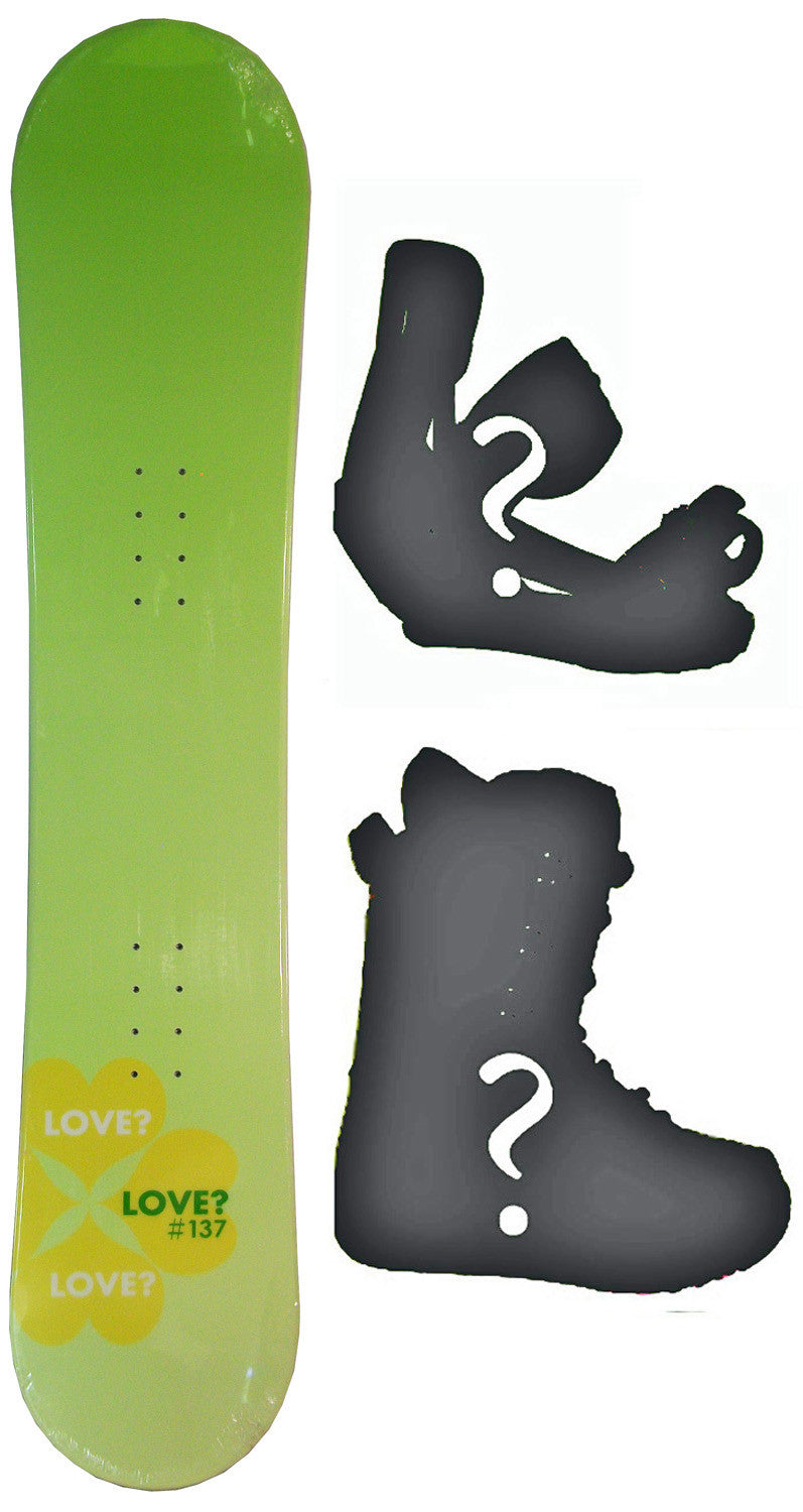 137cm  Love Heart Clover Camber Snowboard, Build a Package with Boots and Bindings