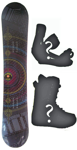151cm  M3 Blaster Rocker Snowboard, Build a Package with Boots and Bindings