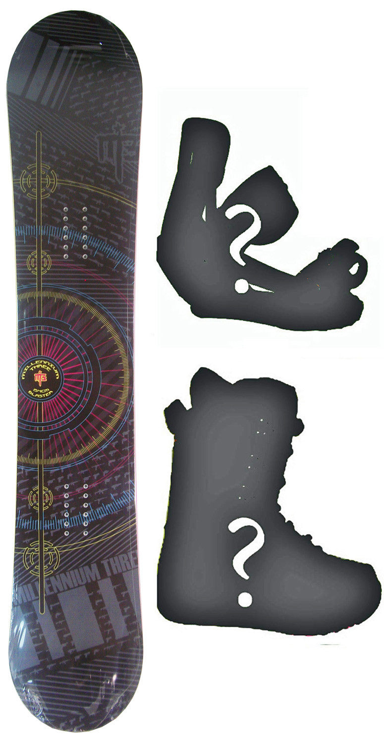 154cm  M3 Blaster Rocker Snowboard, Build a Package with Boots and Bindings