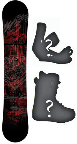 157cm  M3 Convoy W-Rocker Snowboard, Build a Package with Boots and Bindings