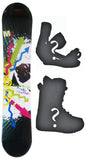 147cm  M3 Foxy Black Rocker Snowboard, Build a Package with Boots and Bindings