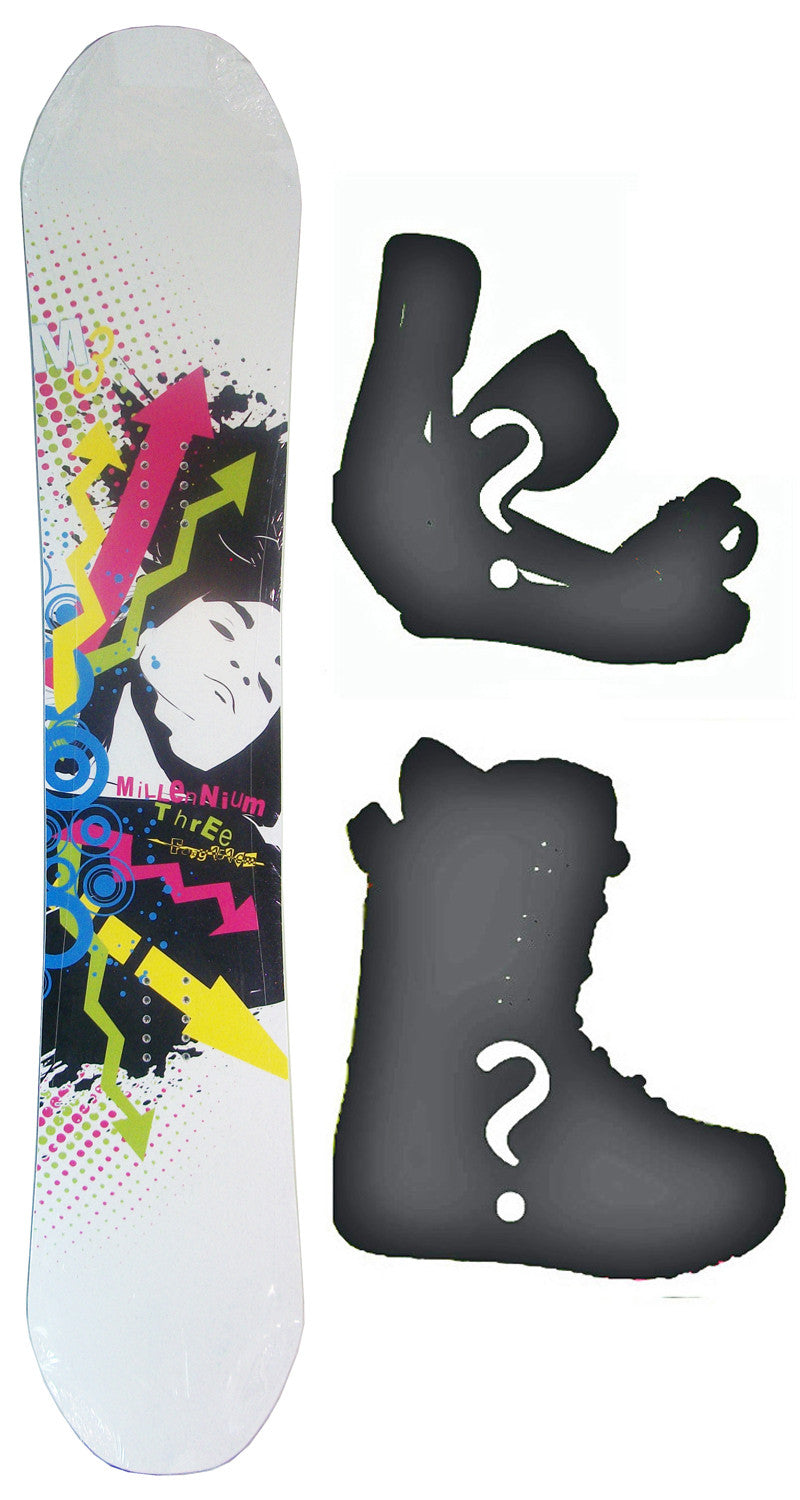 151cm  M3 Foxy Rocker Snowboard, Build a Package with Boots and Bindings