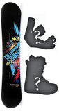 159cm  M3 Hardcore Rocker Snowboard, Build a Package with Boots and Bindings