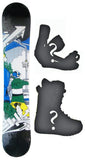 150cm  M3 Shredtastic Black W-Rocker Snowboard, Build a Package with Boots and Bindings.