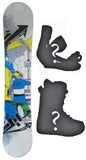 148cm  M3 Shredtastic White Rocker Snowboard, Build a Package with Boots and Bindings