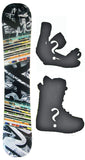 150cm  M3 Stagger W-Camber Snowboard, Build a Package with Boots and Bindings