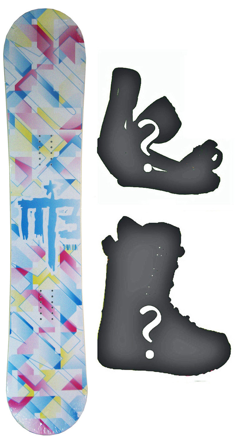 149cm  M3 Twin Rocker Snowboard, Build a Package with Boots and Bindings