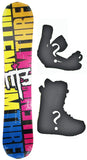 153cm  M3 Twin Rocker Snowboard, Build a Package with Boots and Bindings