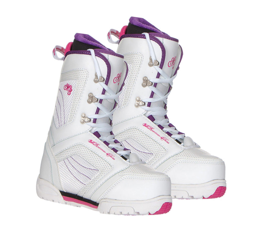 M3 Cosmo Womens Snowboard Boots Linered Size 9-10 White