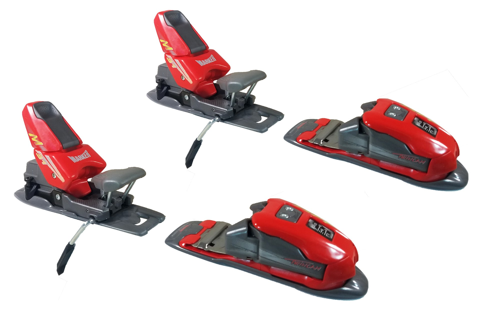 Marker M31 Red-Grey-Yellow Ski Bindings Size