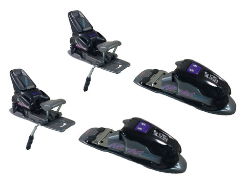 Marker M41 9.0 XL1 ERS Black-Grey-Purple Ski Bindings Size 2.5-9- 80mm Brake