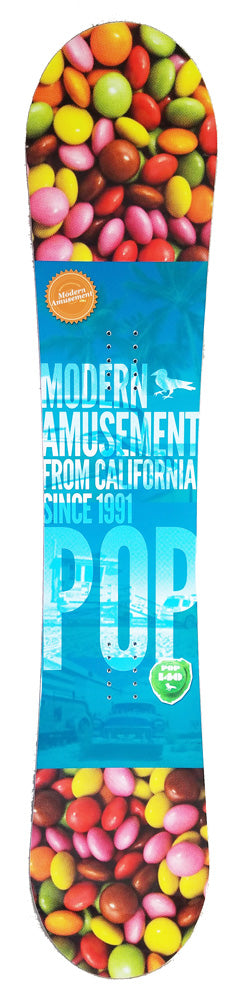 140cm Modern Amusement Pop, Camber Womens Snowboard, Build a Package with Boots and Bindings.