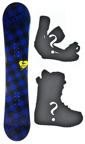 140cm Modern Amusement B.R.D Blue Rocker Women Snowboard, Build a Package with Boots and Bindings.