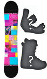 140cm Modern Amusement Dream, Womens's Girl's Snowboard, or Build a Package with Boots and Bindings.