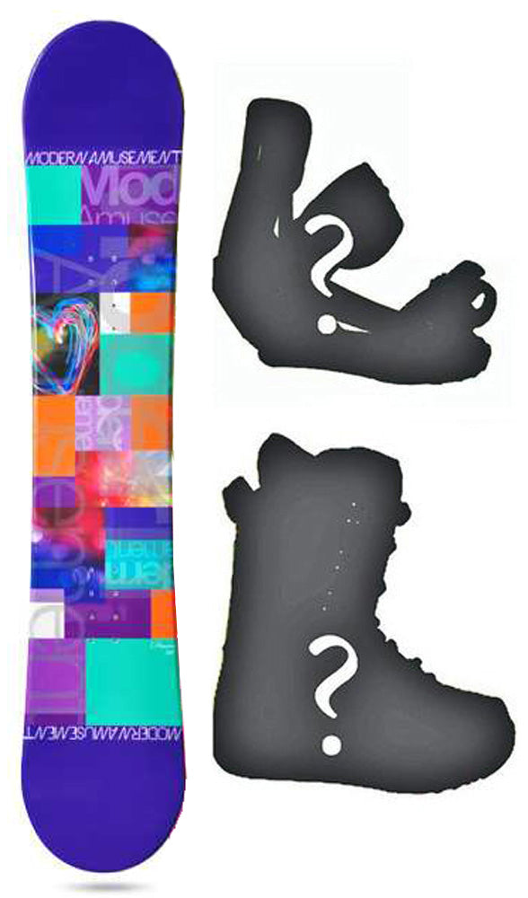 144cm Modern Amusement Dream Purple Womens's Girl's Snowboard, or Build a Package with Boots and Bindings