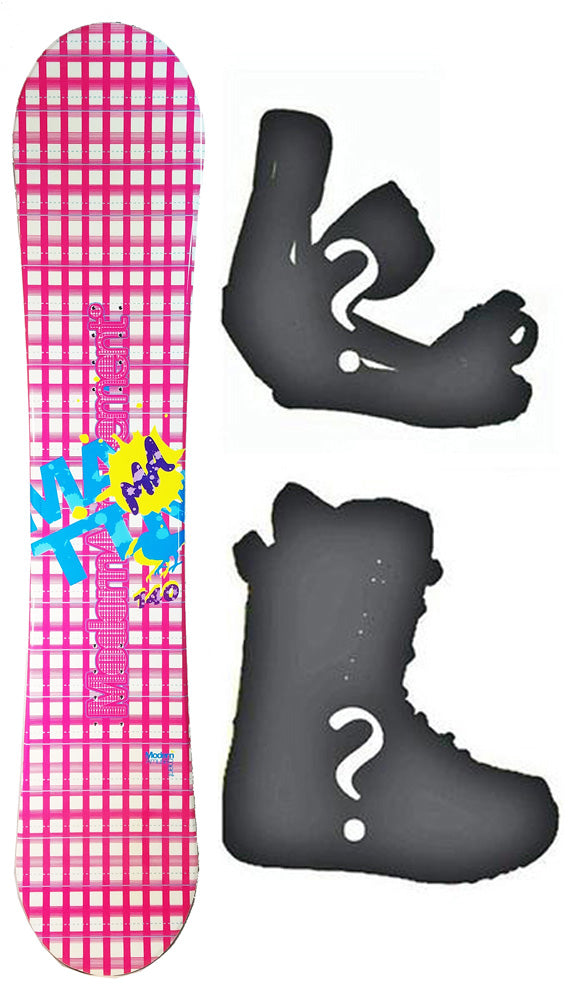 140cm Modern Amusement Grid Womens's Girl's Snowboard, or Build a Package with Boots and Bindings