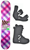 140cm Modern Amusement Marina Pink Camber Womens Snowboard, Build a Package with Boots and Bindings.