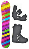 140cm Modern Amusement Palm Camber Womens Snowboard, Build a Package with Boots and Bindings.