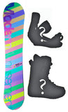 140cm Modern Amusement Palm Pink Camber Womens Snowboard, Build a Package with Boots and Bindings.