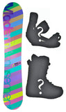 144cm Modern Amousement Palm, Camber Womens Snowboard, Build a Package with Boots and Bindings.