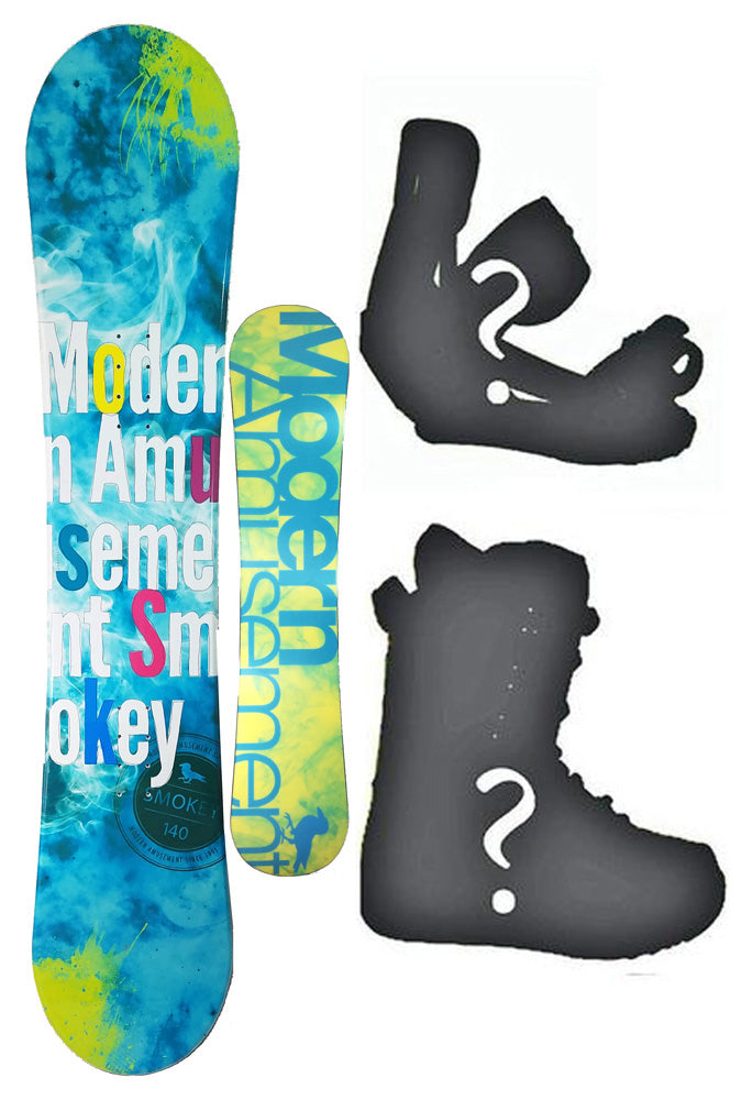 144cm Modern Amusement Smokey blue, Camber Womens Snowboard, Build a Package with Boots and Bindings.
