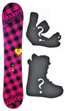 135cm Modern Amusement Santa Monica, Camber Womens Snowboard, Build a Package with Boots and Bindings.