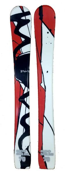 70cm Eco Motive Jr. Blem Skis, Ski Blades, Ski Board.