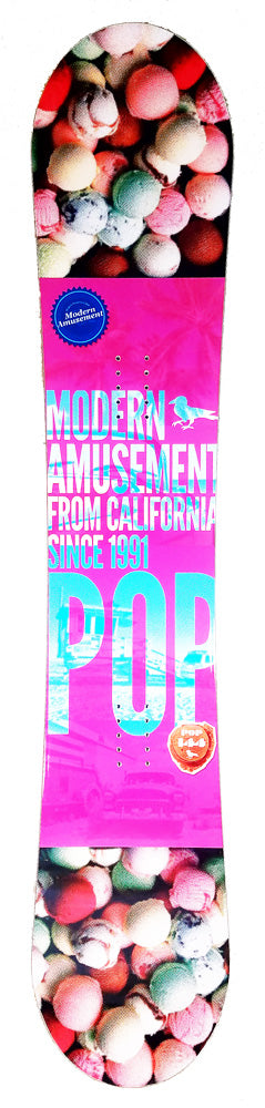 144cm Modern Amusement Pop, Camber Womens Snowboard, Build a Package with Boots and Bindings.
