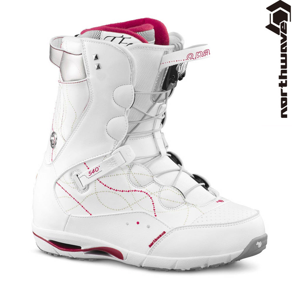 Northwave Opal Super Lace Snowboard Boots White Womens 6.5