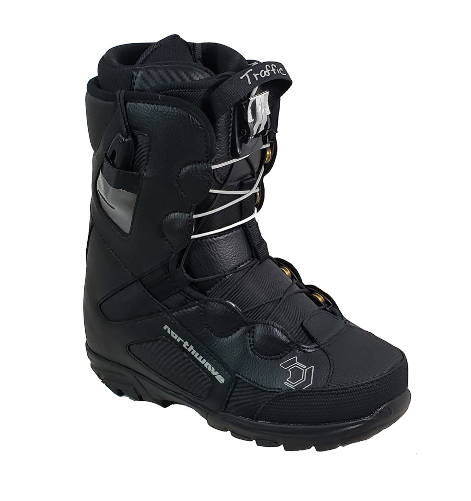 Northwave Traffic Super L Snowboard Boots, Quick Lace System Black, Women 7