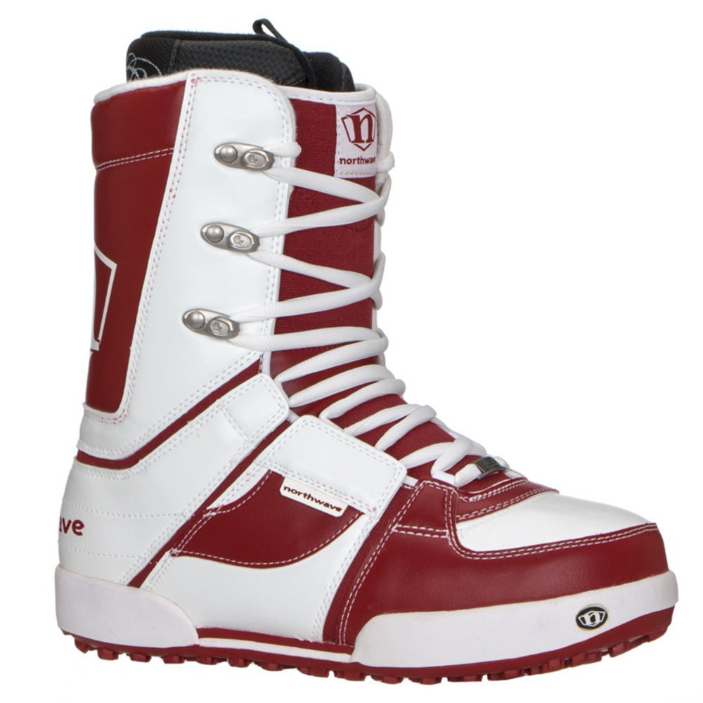 Northwave N Boot Snowboard Boots White Red Mens Size 9.5