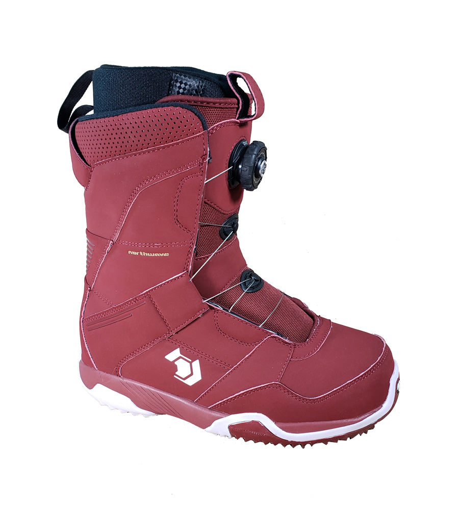 Northwave Wired Boa Snowboard Boots, Red, Mens 8.5 Euro 41.5