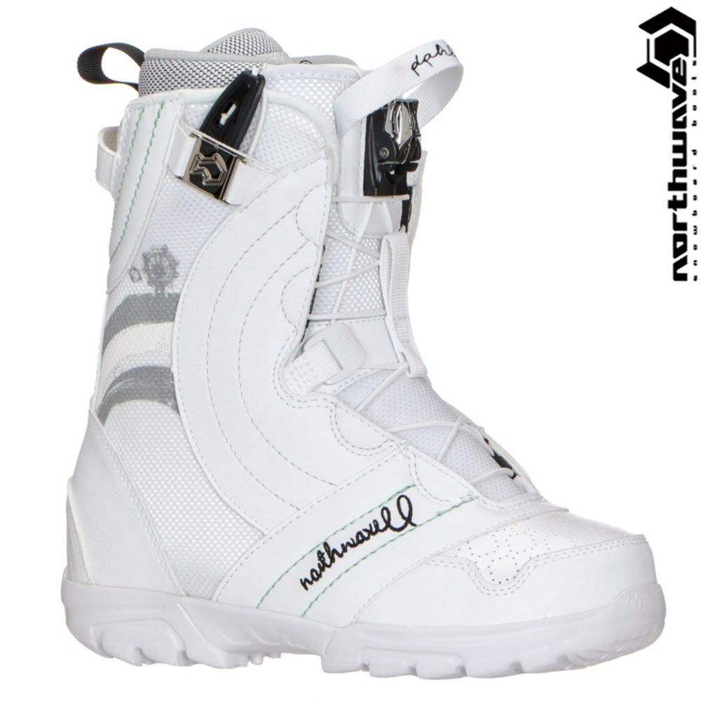 Northwave Dahlia Super Lace Snowboard Boots White Gray Womens 7