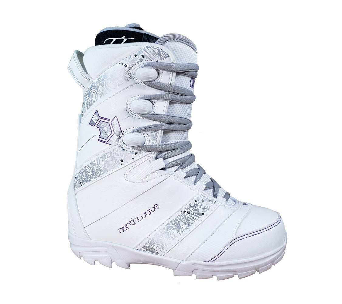 Northwave Dime Snowboard Boots White Purple Womens 5.5 (girls4.5)