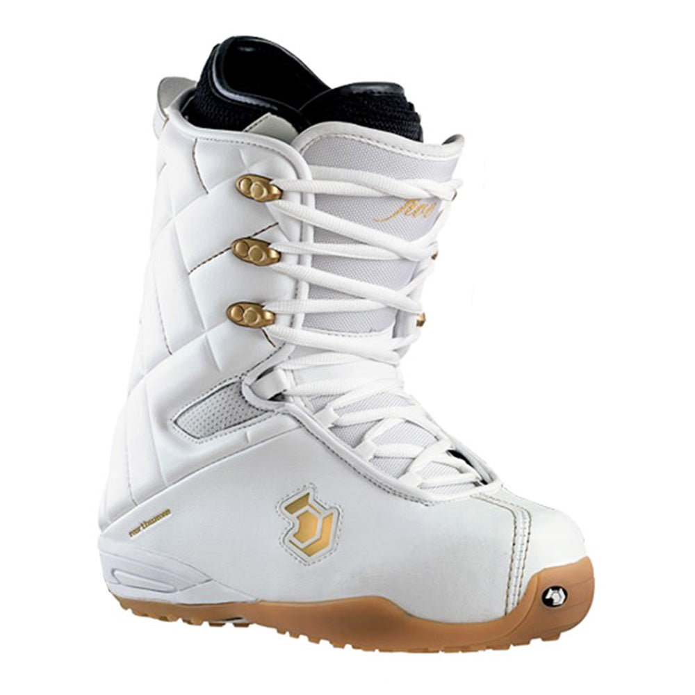 Northwave Five Snowboard Boots White Gold Mens Size 8.5