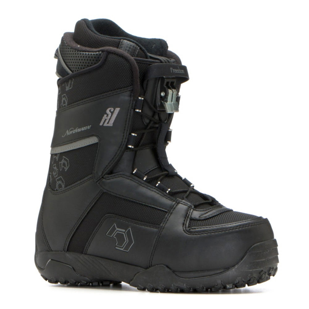 Northwave Freedom Super Lace Snowboard Boots Black Anthracite Womens Size 8.5