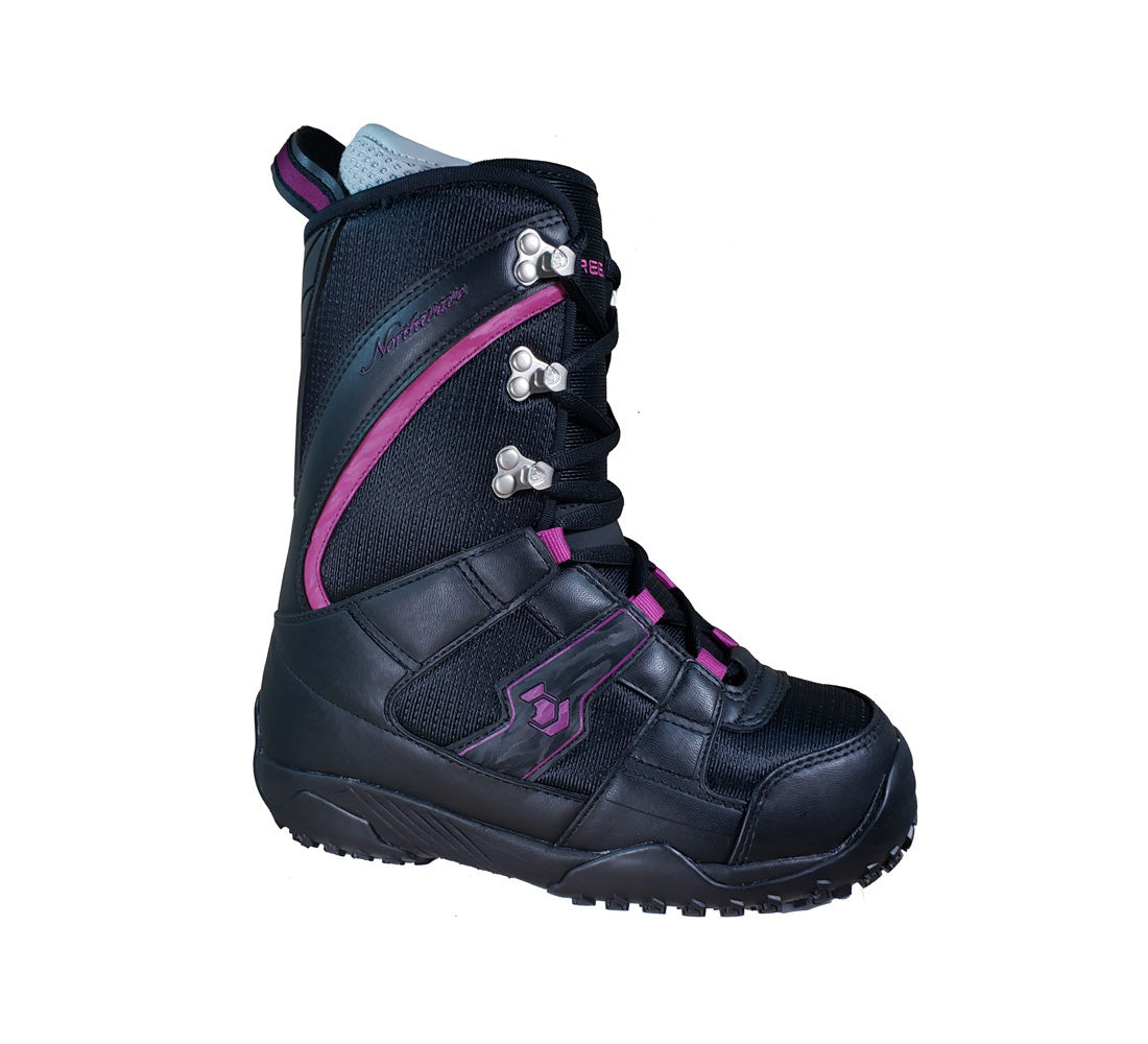 Northwave Freedom Japan Snowboard Boots Black Violet Womens 6