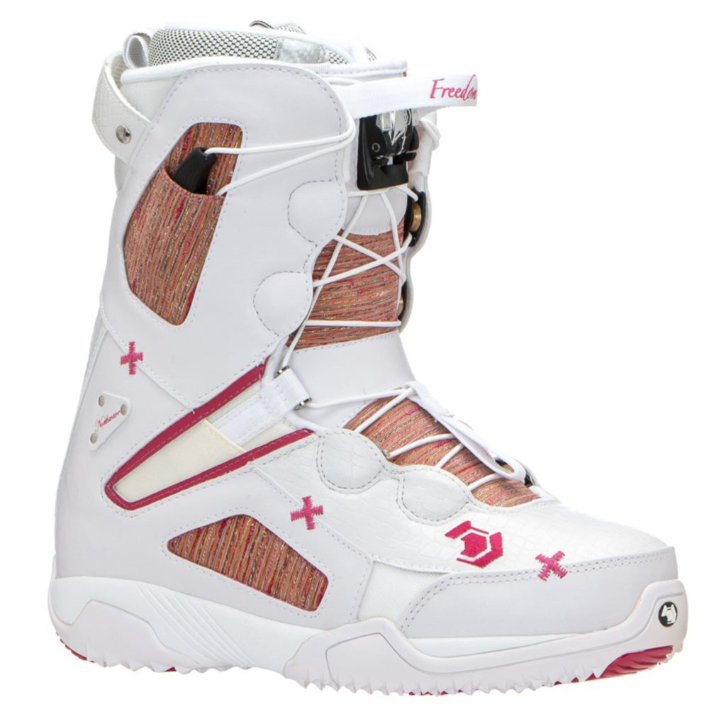 Northwave Freedom Super Lace Snowboard Boots White Pink Womens 9 Winter Warehouse