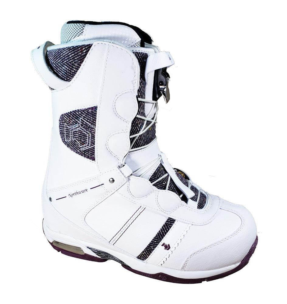 Northwave Legend Lady Super Lace Snowboard Boots Blem White Purple Wo Winter Warehouse